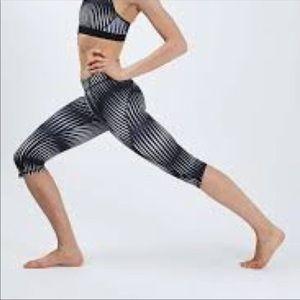 Ivy park striped crop fitness leggings